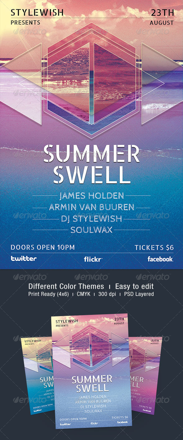 Summer Swell Flyer - Concerts Events