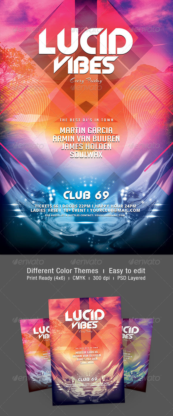 Lucid Vibes Flyer - Clubs & Parties Events