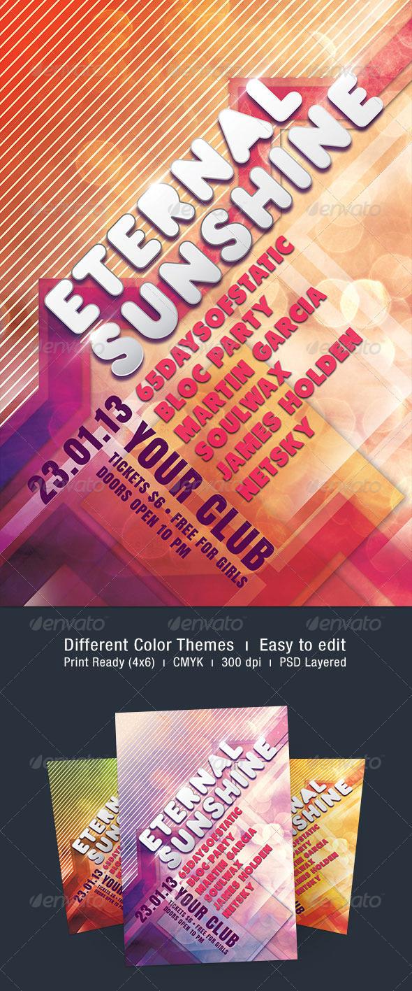 Eternal Sunshine Flyer - Clubs & Parties Events