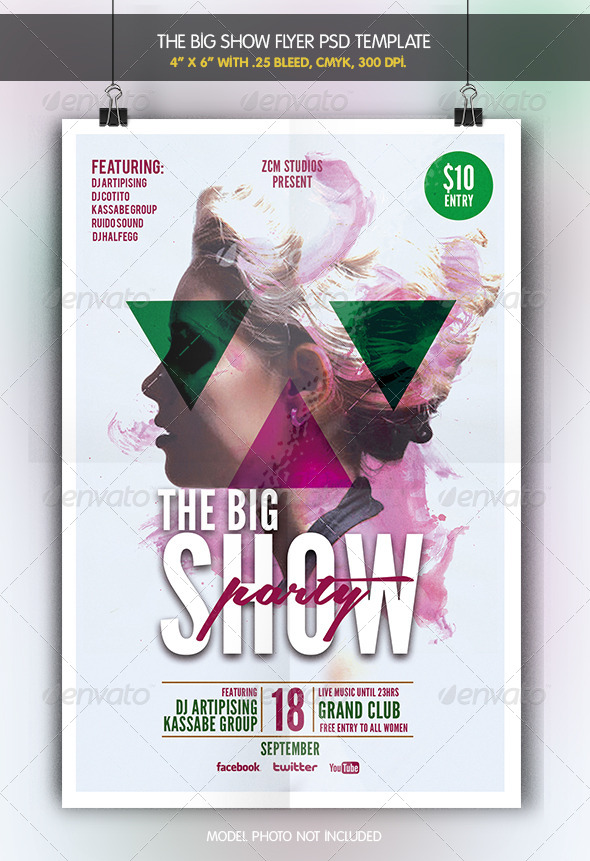 GraphicRiver The Big Show Party Flyer 6964639