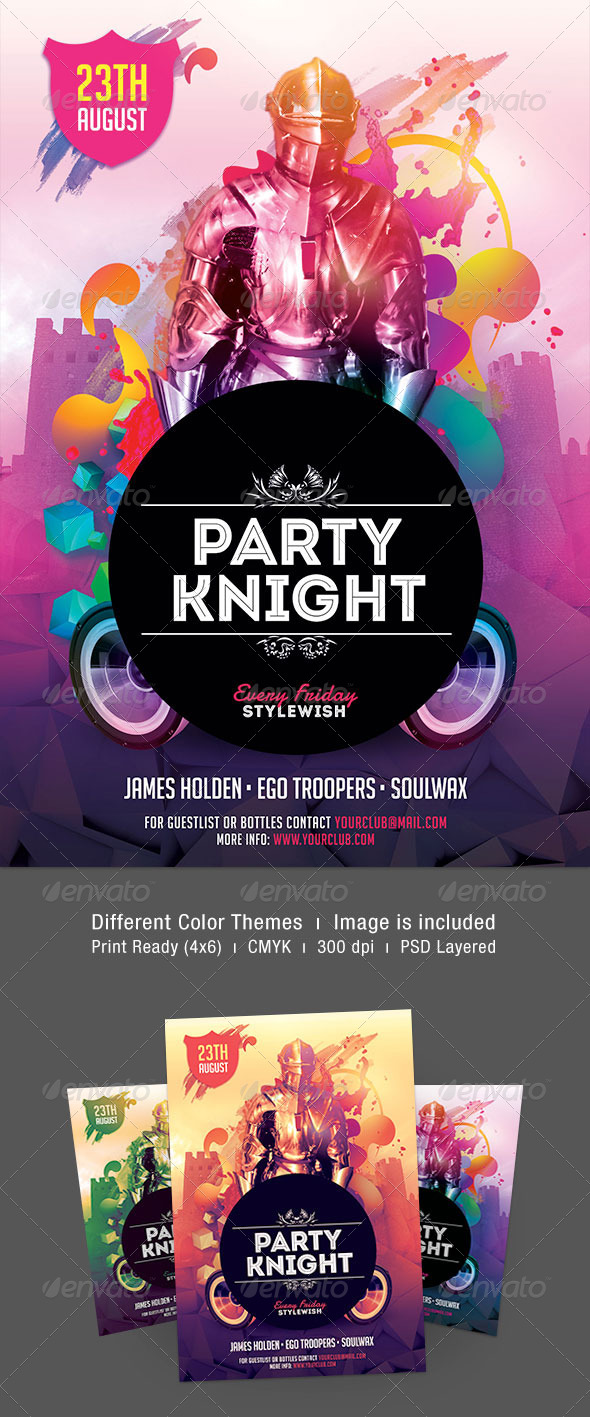 Party Knight Flyer - Clubs & Parties Events