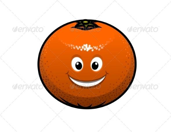 GraphicRiver Cheerful Cartoon Orange Fruit 6964688