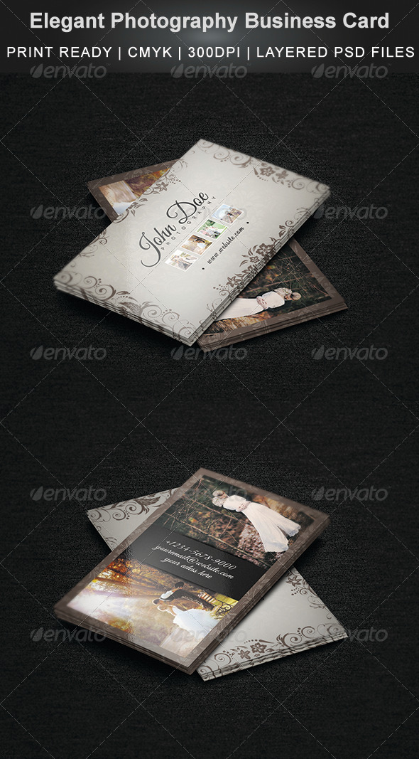 GraphicRiver Elegant Photography Business Card 6964690