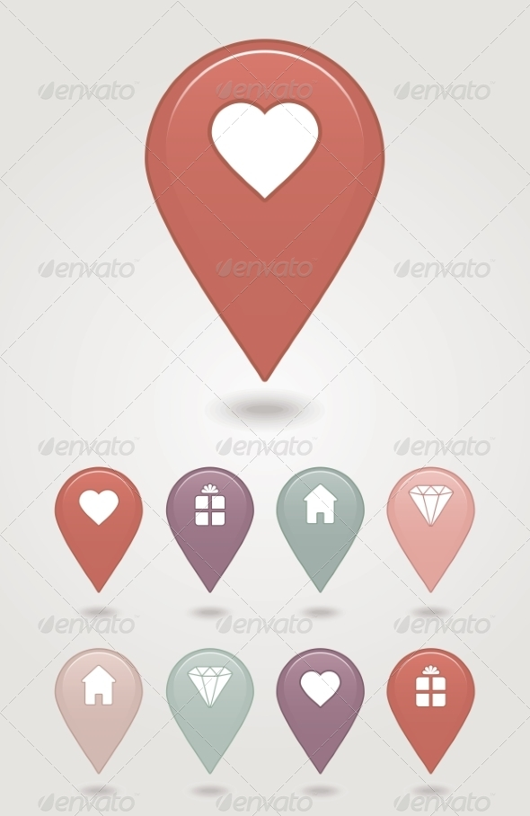 GraphicRiver Mapping Pins Icon 6964739
