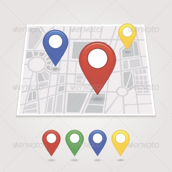 GraphicRiver Mapping Pins Icon 6964748
