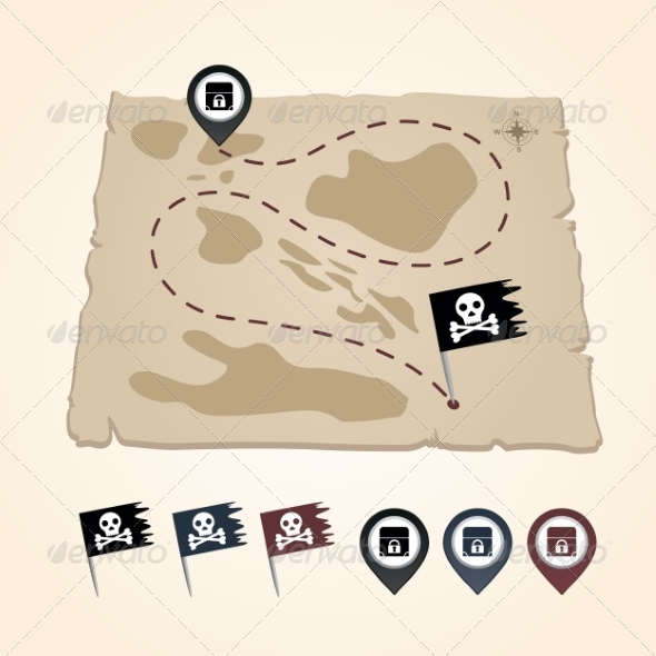 GraphicRiver Mapping Pins Icon 6964758