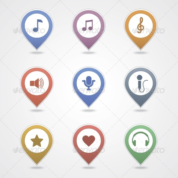 GraphicRiver Mapping Pins Icon 6964762