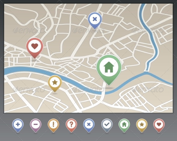 GraphicRiver Mapping Pins Icon 6964767