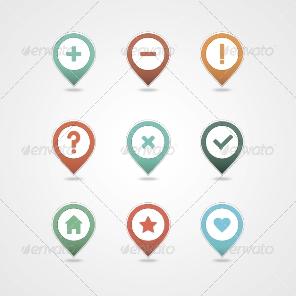 GraphicRiver Mapping Pins Icon 6964768