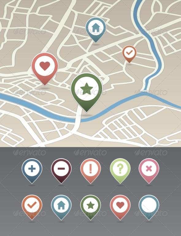 GraphicRiver Mapping Pins Icon 6964772