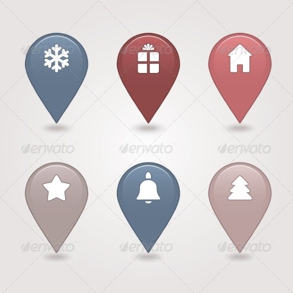 GraphicRiver Mapping Pins Icon 6964779