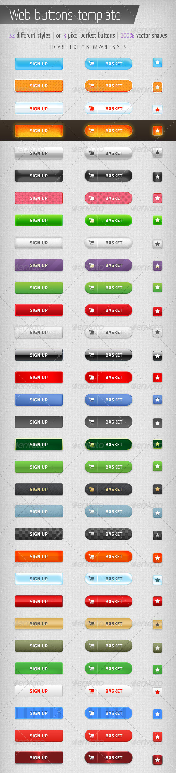 GraphicRiver Web Buttons Template 6964781