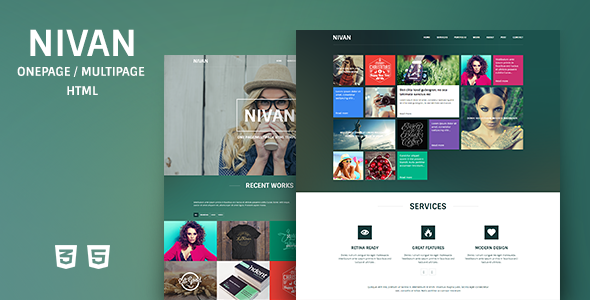 ThemeForest Nivan One Page Multi Page HTML Template 6964802