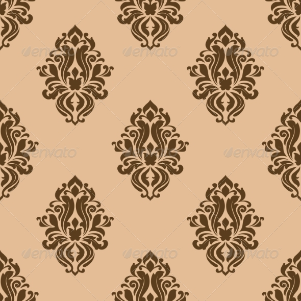 GraphicRiver Beige and Brown Seamless Pattern 6964817