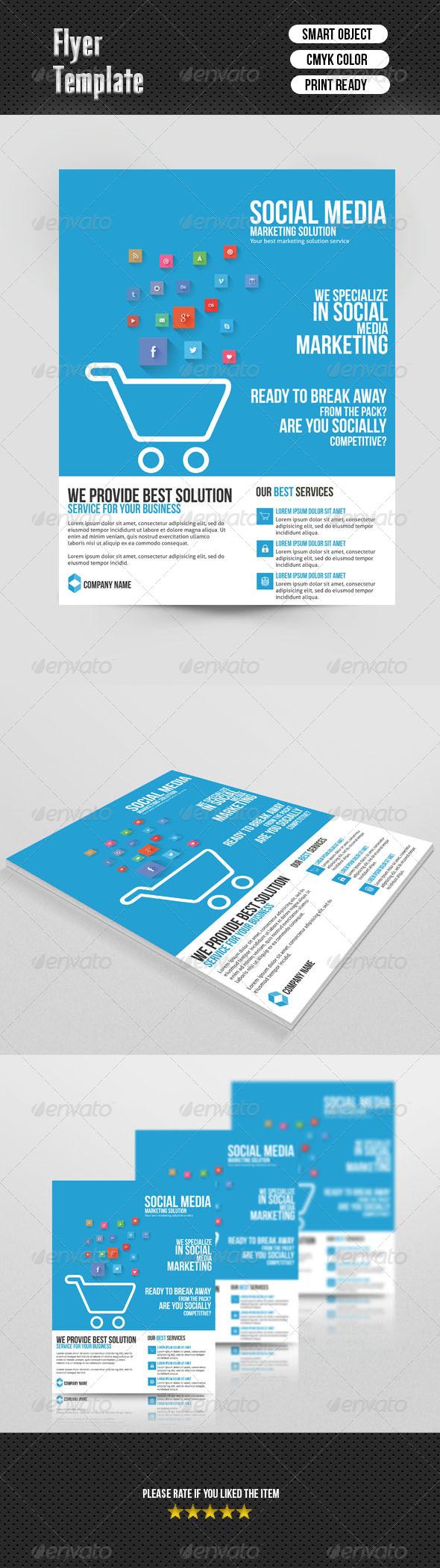 GraphicRiver Social Media Marketing Flyer 6964847