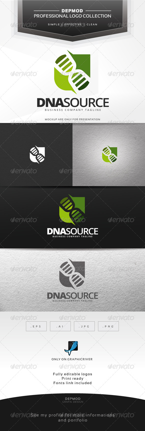 GraphicRiver DNA Source Logo 6964920