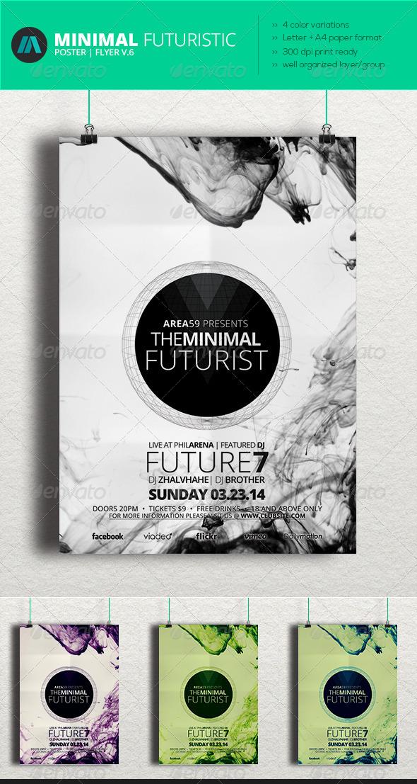 GraphicRiver Minimal Futuristic Poster Flyer V.6 6964932