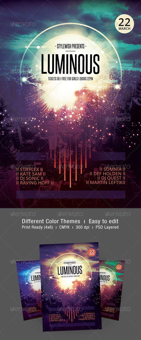 Luminous Flyer - Concerts Events