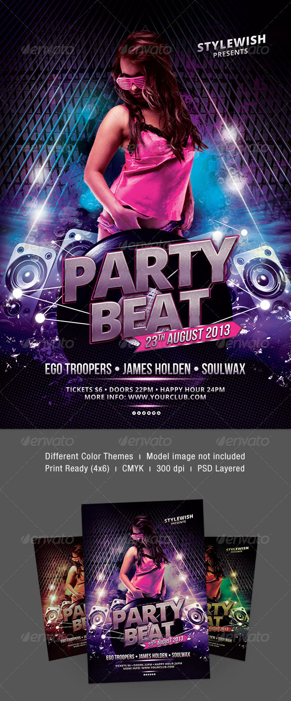 Party Beat Flyer - Clubs & Parties Events