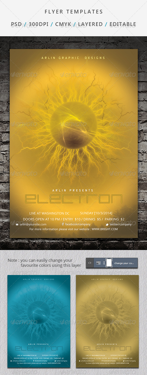 GraphicRiver Futuristic Flyer Template 04 6965034