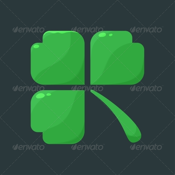 GraphicRiver Shamrock Clover Over Dark Background 6965070