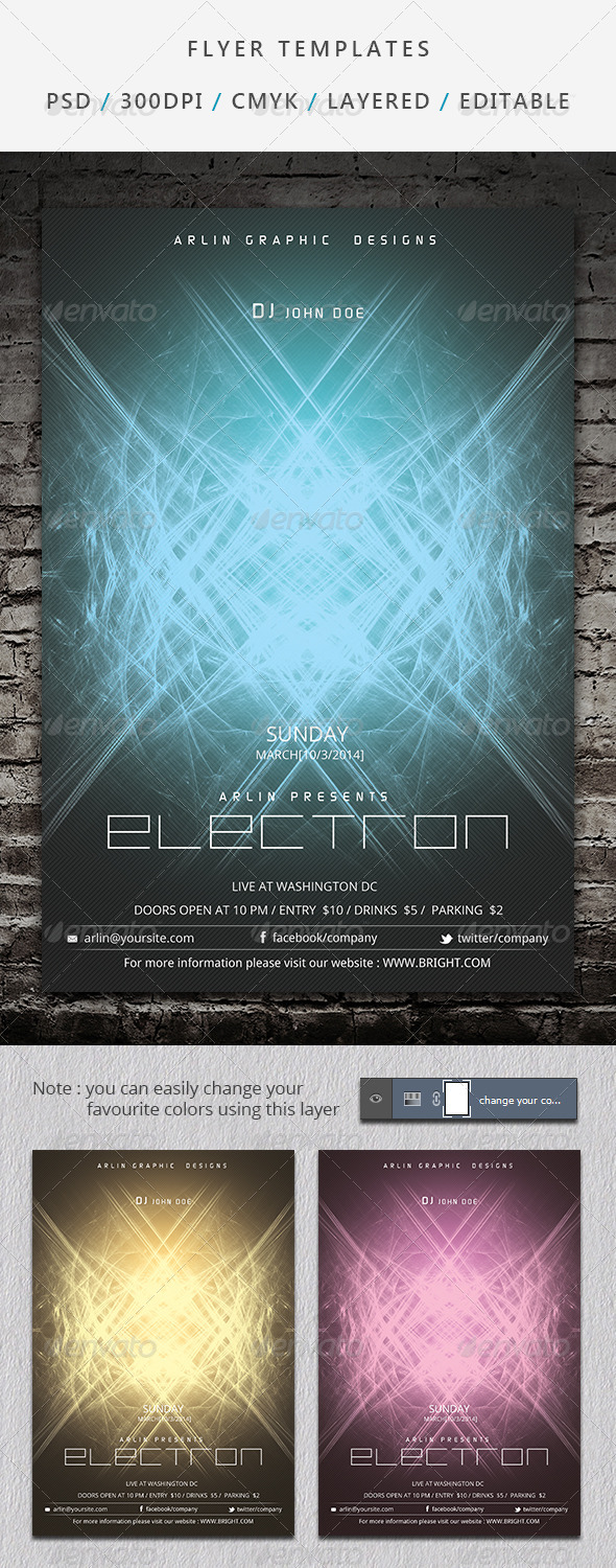 GraphicRiver Futuristic Flyer Template 06 6965094