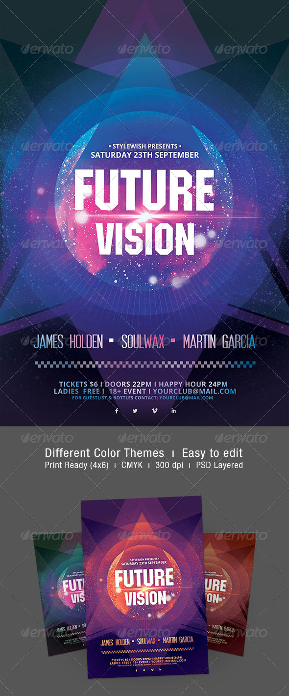 Future Vision Flyer - Clubs & Parties Events