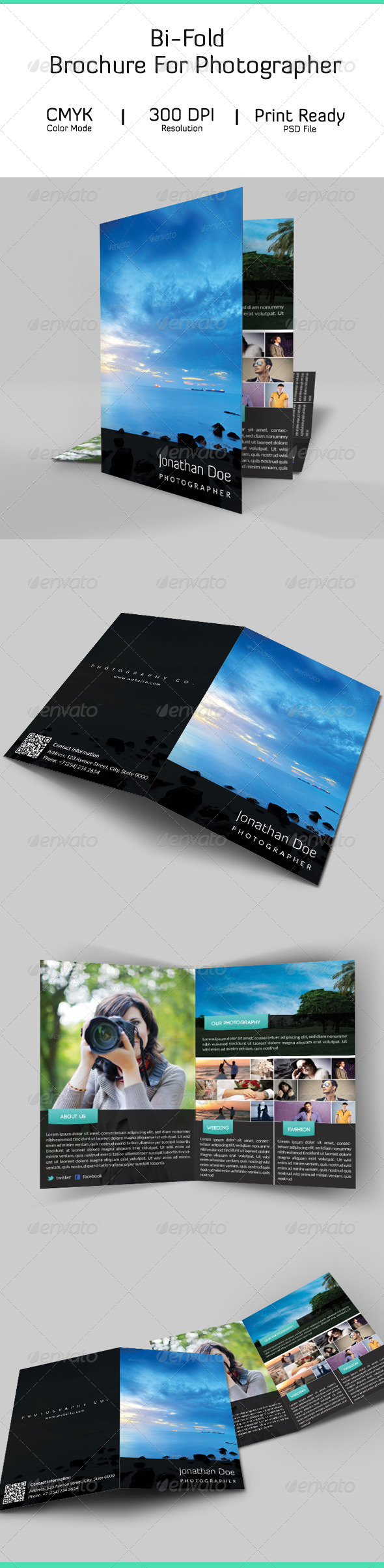 GraphicRiver Bi-Fold Brochure For Photographer 6965109