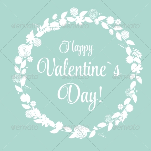 Vector St Valentine Day s Greeting Card in Retro
