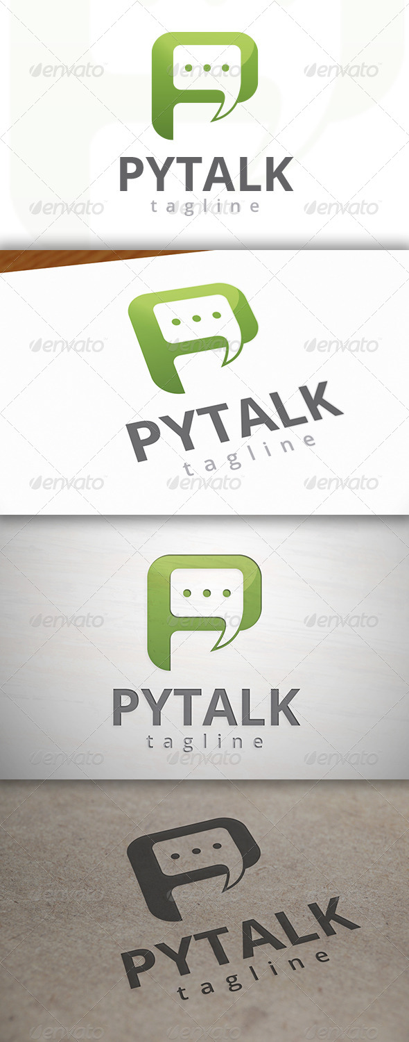 GraphicRiver Talk P Logo 6965182