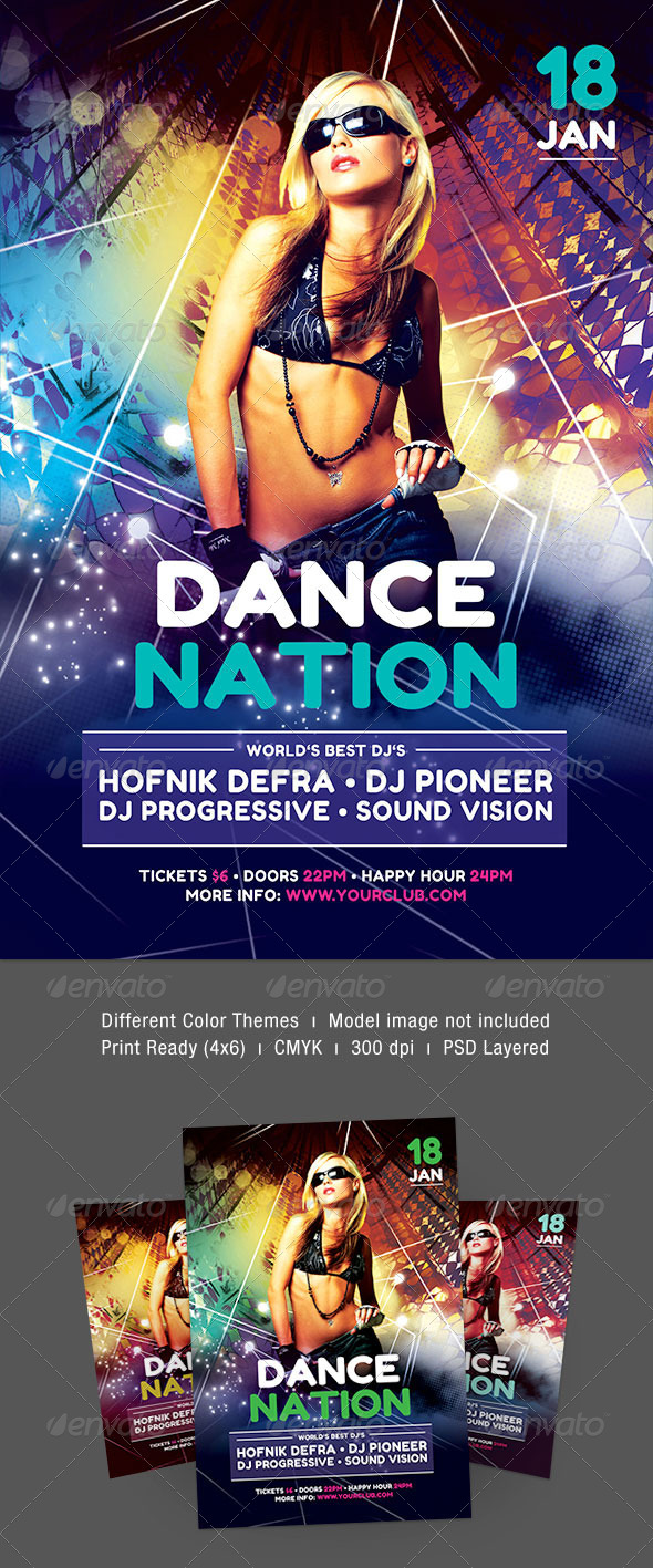 Dance Nation Flyer - Clubs & Parties Events