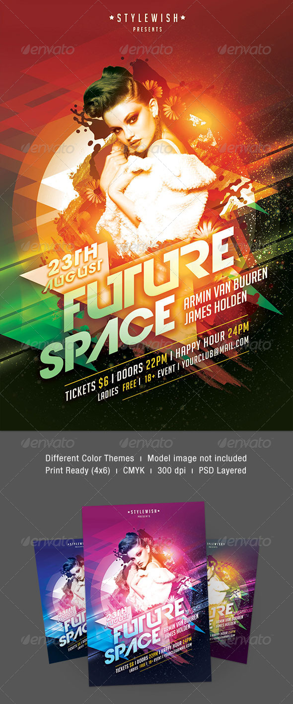 Future Space Flyer - Clubs & Parties Events