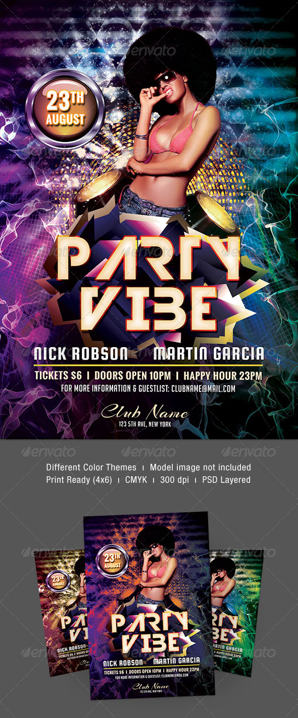 Party Vibe Flyer - Clubs & Parties Events