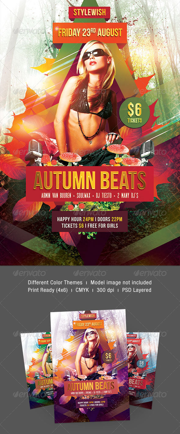 Autumn Beats Flyer - Clubs & Parties Events