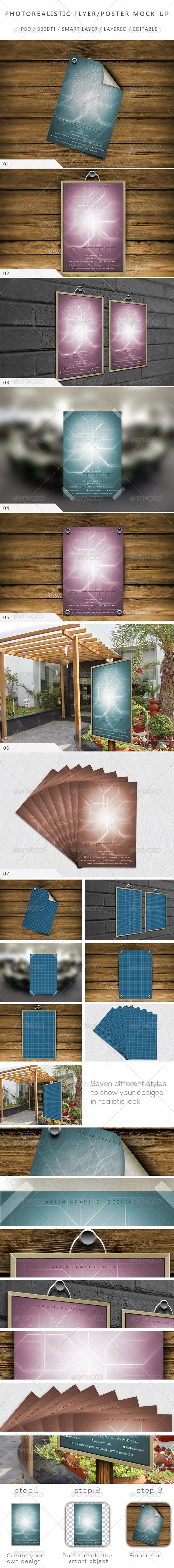 Photorealistic Flyer Poster Mock-up-V 01
