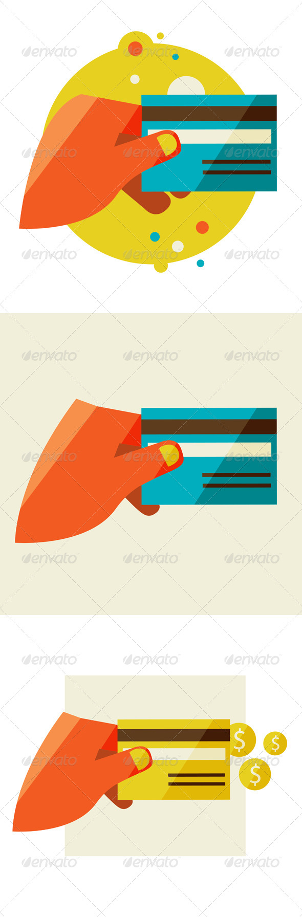 GraphicRiver Hand Holding Credit Card 6965690