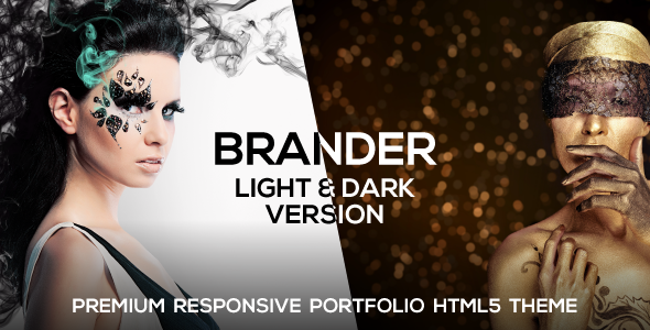 Brander - Premium Responsive Portfolio HTML5 Theme - Creative Site Templates