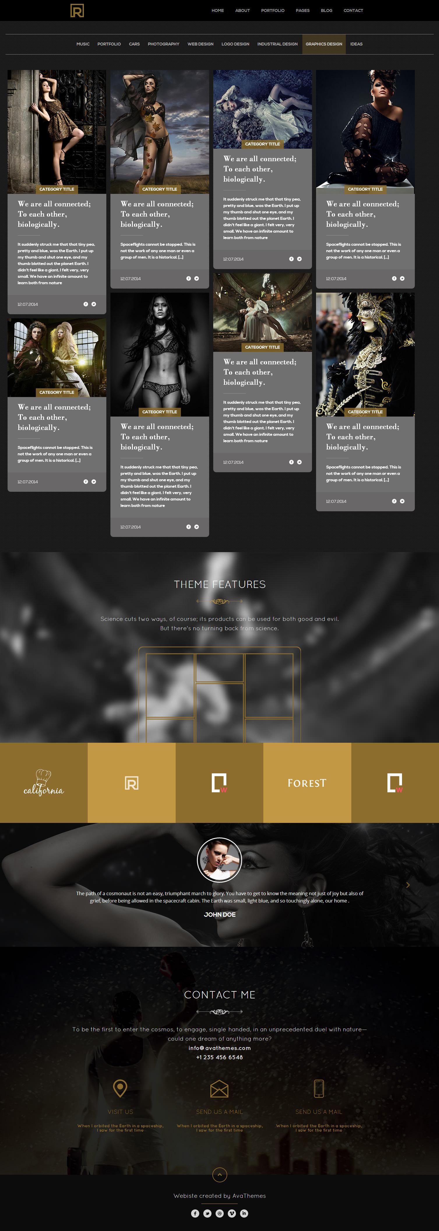 Brander - Premium Responsive Portfolio HTML5 Theme