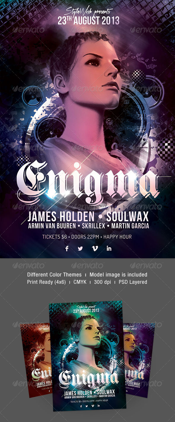 Enigma Party Flyer - Clubs & Parties Events