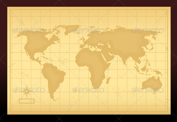 GraphicRiver Vintage World Map 6965726