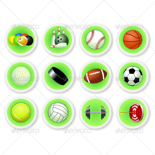 GraphicRiver Sport Balls Icon Set 6965783