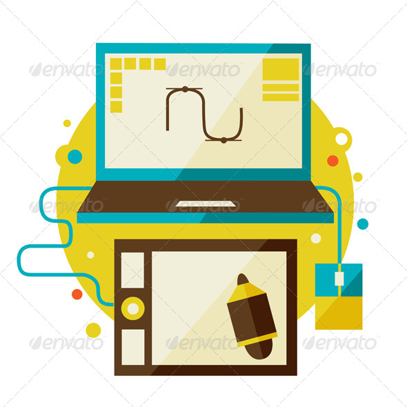 GraphicRiver Digital Tablet And Computer 6965792