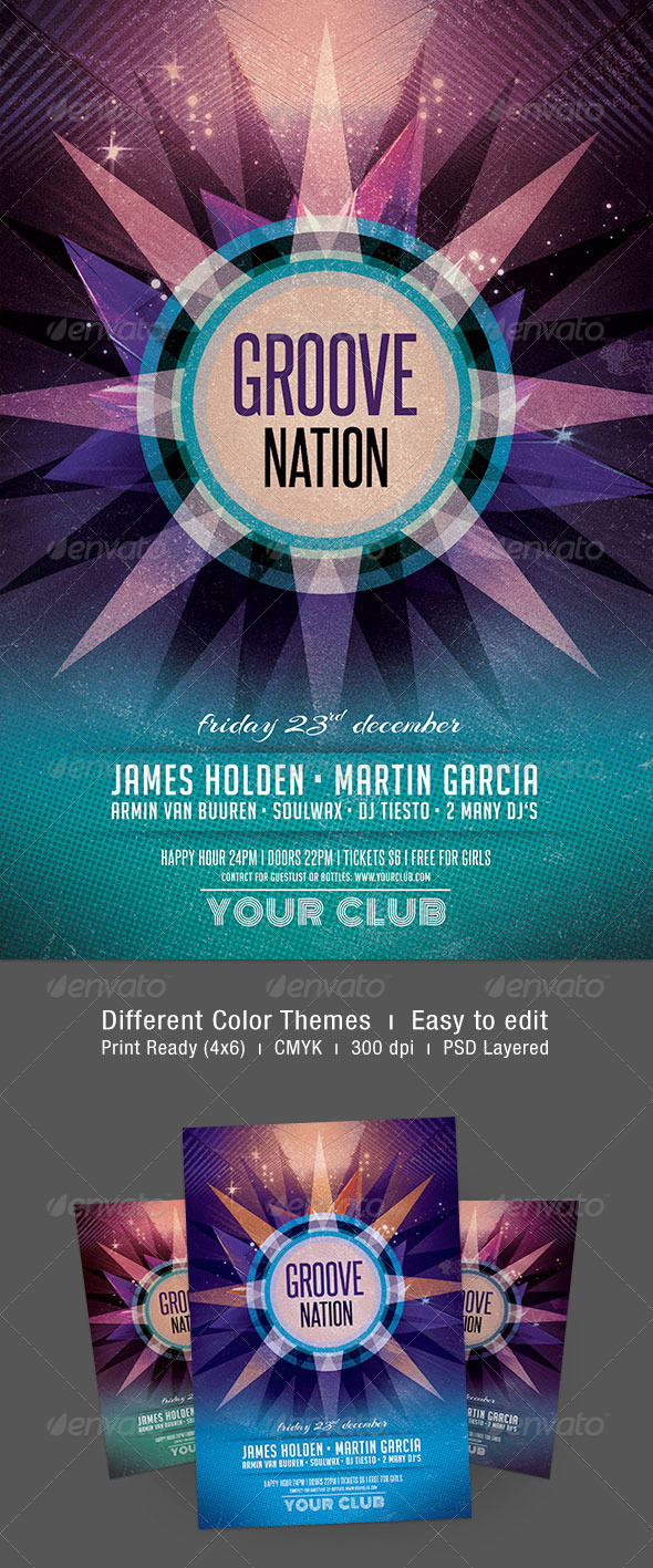 Groove Nation Flyer - Clubs & Parties Events