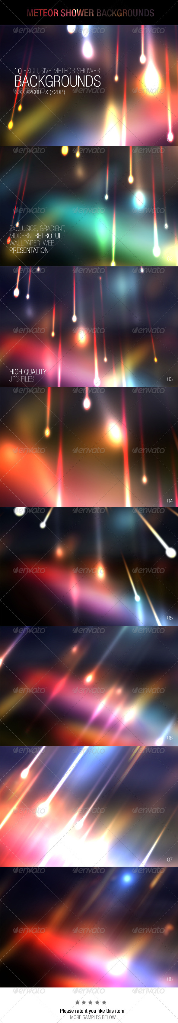 GraphicRiver Meteor Shower Backgrounds 6965906