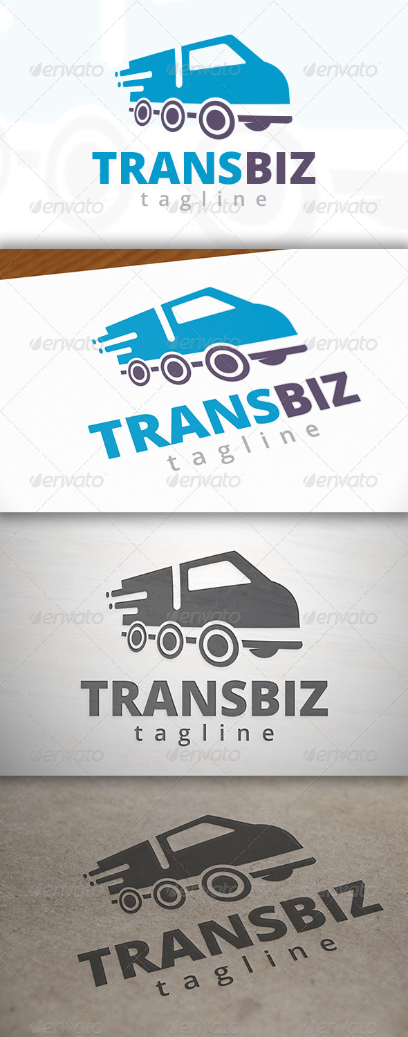 GraphicRiver Transport Truck Logo 6965950