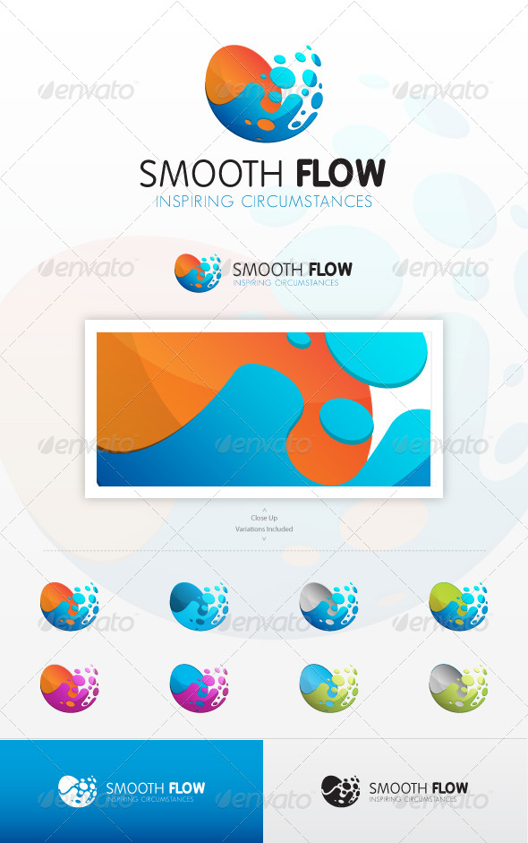 Smooth Flow Logo - Abstract Logo Templates