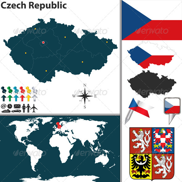 GraphicRiver Map of Czech Republic 6965986