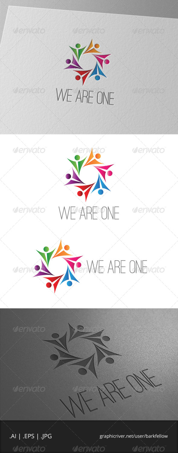 GraphicRiver We Are One Logo 6965988