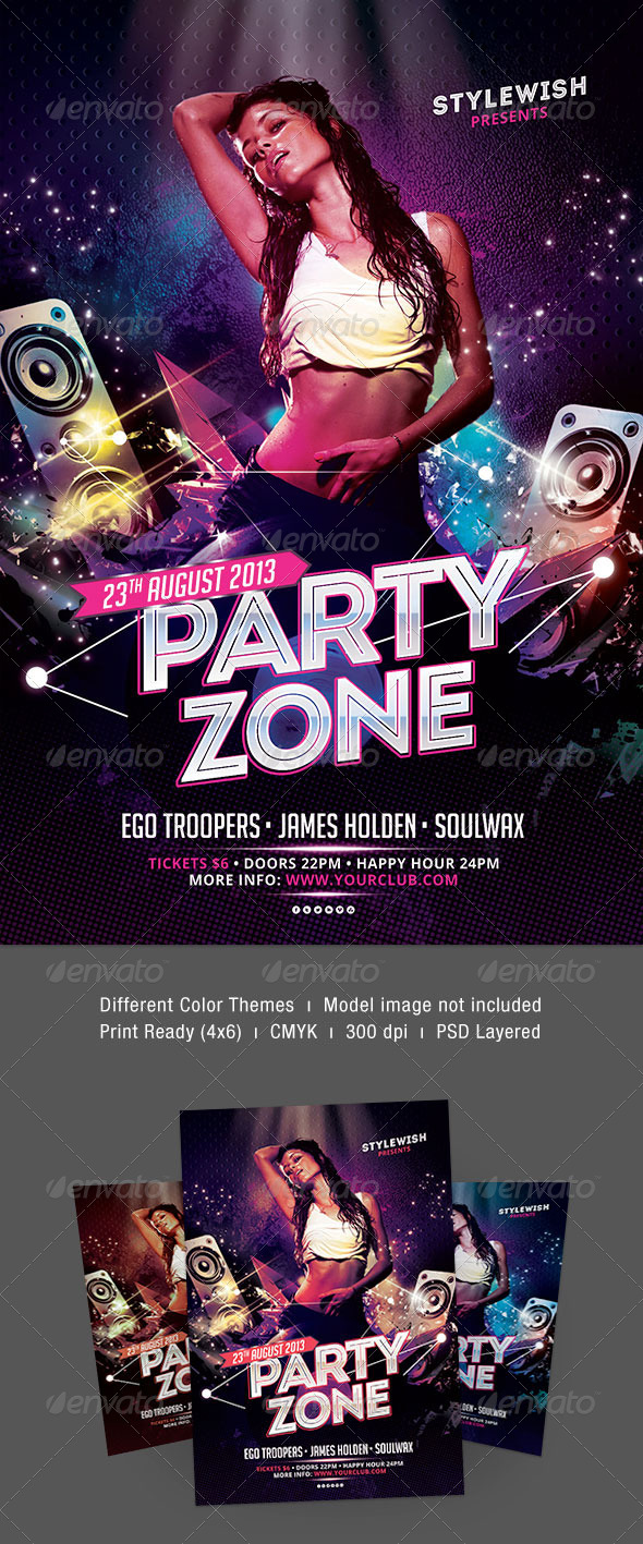 Party Zone Flyer - Clubs & Parties Events