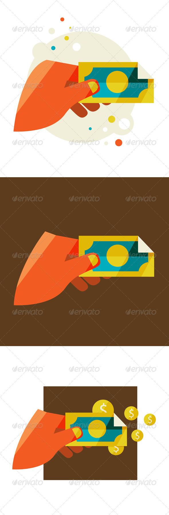 GraphicRiver Man s Hand Holding a Banknote 6966128